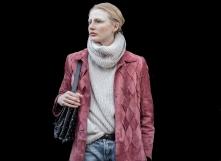 Model Leah Rodl during London Fashion Week AW18