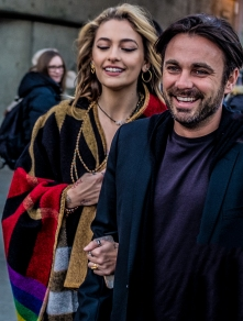 Paris Jackson and Tom Hamilton arriving at the Burberry Show 18/2/18