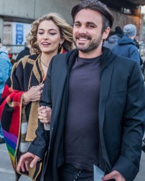 Paris Jackson and Tom Hamilton arriving at Burberry 18/2/2018