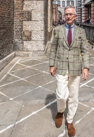 David Evans @greyfoxblog after Jermyn Street Fashion Show SS19